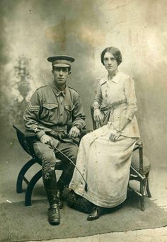Portrait photograph of Harold and Margaret Luckwald, taken around 1914.