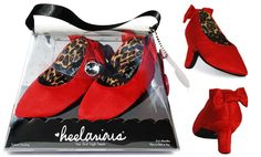 Heelarious heels. Soft crib shoes for babies. These are more funny - than cute.