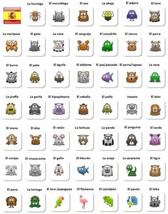 Los animales - Spanish animals vocabulary for beginners