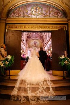 A true cathedral veil