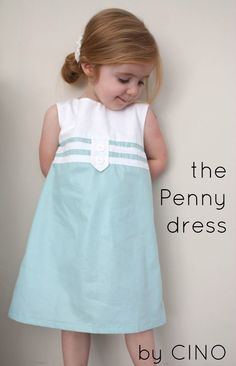 I love this dress! Hopefully I can make the girls this dress some day... red on the bottom would make a beautiful Christmas dress with a little sweater. little dresses, dress patterns, little girls, dress tutorials, pennies, sewing tutorials, penni dress, kid, little girl dresses