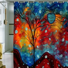 such a cool shower curtain!