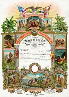 http://www.phoenixmasonry.org/masonicmuseum/fraternalism/images/Improved_Order_of_Red_Men_certificate_1889.jpg