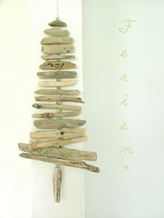 Driftwood and beads.   The hunt for driftwood is on. :)