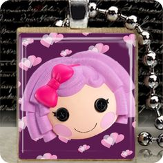 Jewelry LALALOOPSY NECKLACE Wood Scrabble Tile