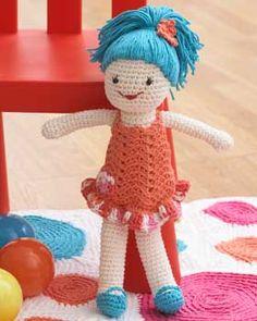 Lily doll - free crochet pattern