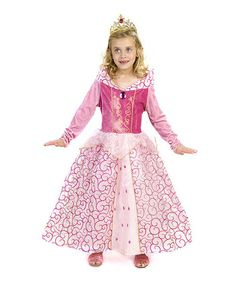 Pink Glitter Swirl Aurora Dress - Girls