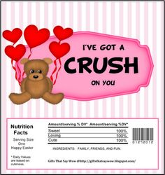 Free Printable Valentine Candy Wrapper