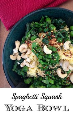 Spaghetti Squash Yoga Bowl (Paleo  Vegan) | GrokGrub.com