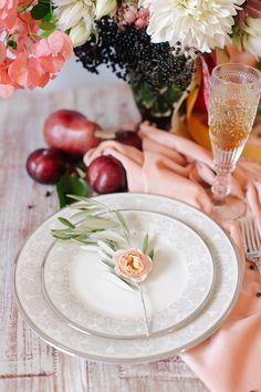 peach place setting | Annabella Charles