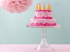 Dreamy Pink Castle Cake