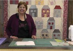 patchwork, houses, easi hous, quilt video, hous quilt, paper piec, house quilts, video tutori, quilt tutori