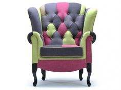 Mobilier on pinterest 36 pins - Fauteuil tissu patchwork ...