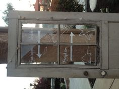 Here's another great wedding idea.  Use an old vintage door to display your wedding site instructions!  doors and weddings.  vintage wedding.  rustic wedding.  wedding decor ideas.  outdoor wedding.