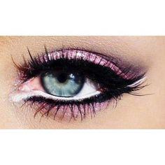 white and black eyeliner.