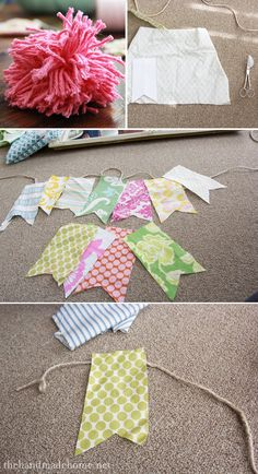 banner garland, garlands, how to make a banner, banners