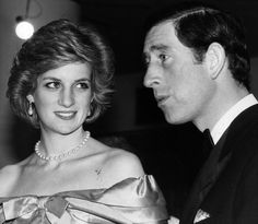 Charles Prince Of Wales and Diana, Princess of Wales (1961 - 1997) arriving concert held by the Royal Philharmonic Orchestra. (Photo by Keystone/Getty Images) februari 3mountbatten, concertroy albert, 3mountbatten concertroy, hrh diana, royal philharmon, princess diana, royal albert, pow 1983, albert hall