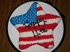 Image detail for -fourth of july cake by cakemom1 strawberry cake with strawberry ...