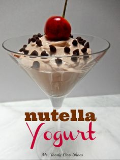 #Nutella + Plain Yogurt = Nutella Yogurt! A very satisfying snack --- Ms. Toody Goo Shoes