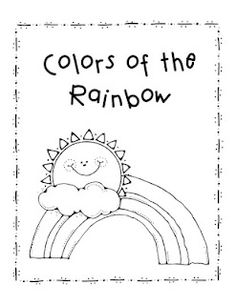 Colors of the Rainbow Printable Book