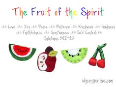 sunday school, idea, bibl, fruit, learn, spirit seri, homeschool, preschool introduction, kid