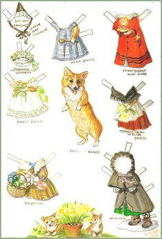 @ Vicki Casey, LOL!!!  Thought you would find this funny! Tasha Tudor, Meggie Corgi paper doll #corgi