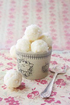 white chocolate & coconut truffles