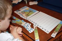 Create this number sequencing puzzle for your preschooler.