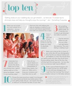 TOP 10 | Getting Ready tips!