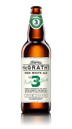 McGrath's Premium White Ale | #packaging #bottledesign #beer #ale