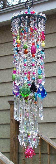 Celebration Antique Crystal Wind Chime by sheriscrystals on Etsy http://www.etsy.com/listing/117165136/celebration-antique-crystal-wind-chime?ref=v1_other_2