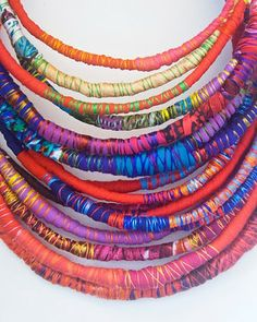 handpicked, by doble M design - inspiration for fabric & thread wrapped necklaces
