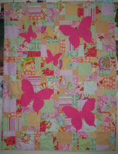 Four Wise Monkeys: Butterfly Silhouette Quilt