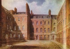 Downing Street in the 18th century. Number 10 is on the right. Pitt lived here longer than any other Prime Minister. (Independent Whig's scan)