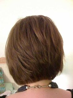 Layered Bob Haircut Back View | Tapered bob hairstyle is one the cutest in all the bob hairstyles as ...