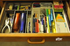 Darkroom and Dearly: {organized drawers}