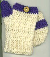Free Crochet Patterns Flip Top Mittens : CROCHET FINGERLess GLOVES & MiTTENs on Pinterest ...