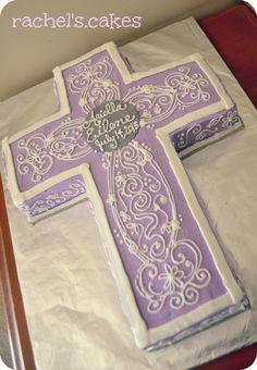 lavender cross cake www.facebook.com/the.rachels.cakes