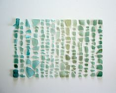 Sea Glass Spectrum - Take 1: sea glass from blue to green frame.