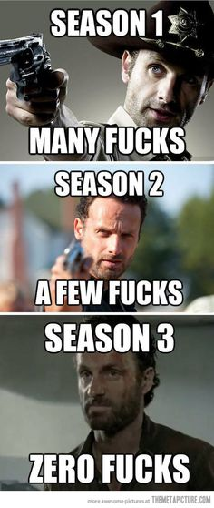 Rick Grimes through the seasons