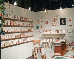 card display, shop style, rifl paper, nss, shop design, papers, craft fair, handmad shop, finest paper