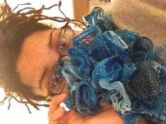 Ruffle scarf in sashay.