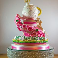 Whimsical teapot cak