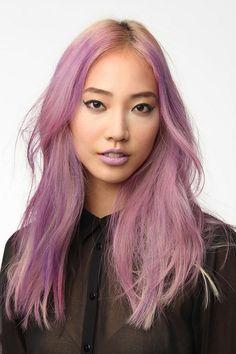 Ashy lilac hair.