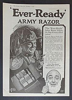 Ever-Ready Army Razor Ad