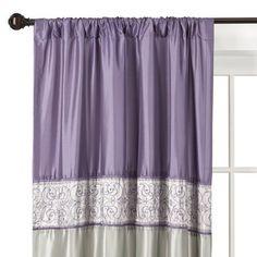 Curtains: Cosmopolitan Window Panel - Grape/Silver @Target $15.74