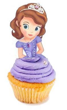 Your Cupcake is Her Dress  Sofia the First Cupcake Toppers Princess Birthday Party Decorations Set of 12 Unique and very cute