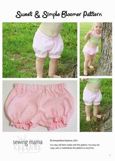 Many Patterns   BABY BLOOMERS PATTERNS