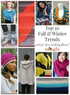 Free Crochet Patterns for the Top 10 Fall and Winter Trends!