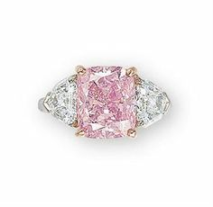 "the ""vivid pink"" diamond sold for 10.8 m, weighs 5 ct"